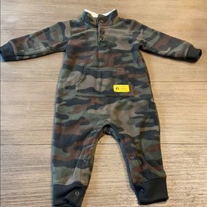 Carter's fleece one piece outfit